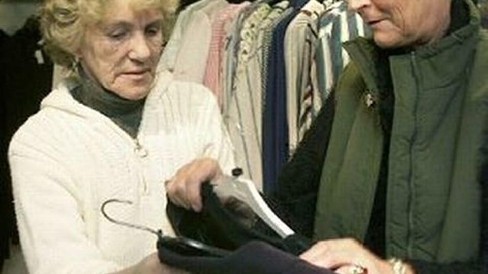 Røde Kors-butikken i Hirtshals har oplevet en mindre omsætnings- nedgang, men er fortsat en rigtig god indtægtskilde. ARKIVFOTO: HANS RAVN