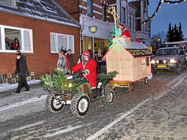 I år finder juleoptoget sted på søndag 2. december. Arkivfoto