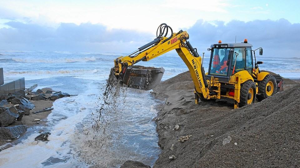 En hjulgraver en en gravemaskine på hjul. Denne hjulgraver indgik ikke i sagen fra Hjørring.Arkivfoto: Ole Iversen