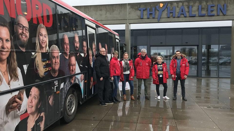 NORDJYSKE-bussen er onsdag ved Thyhallen.