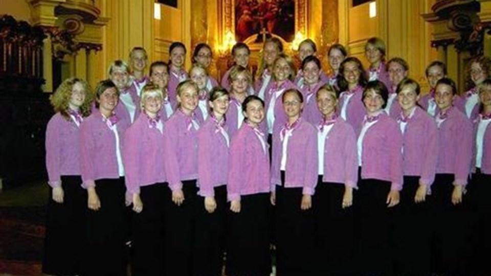 30 kormedlemmer synger søndag kendte salmer i Saltum Kirke.