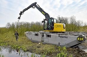 Amfibie-maskine besejrer sumpen