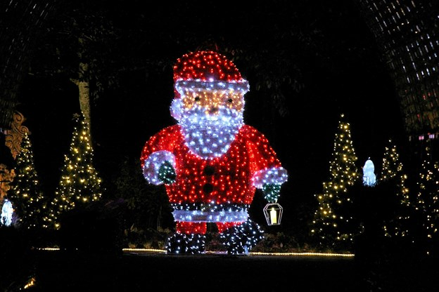 Julemanden er kæmpe stor i parken. Foto: Flemming Dahl Jensen