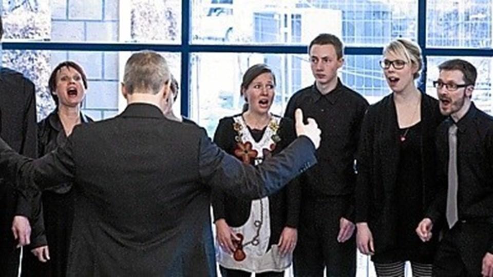 Sangkoret Kolorit med 18 sangere optræder lørdag 9. august på Dronninglund Kunstcenter. Privatfoto