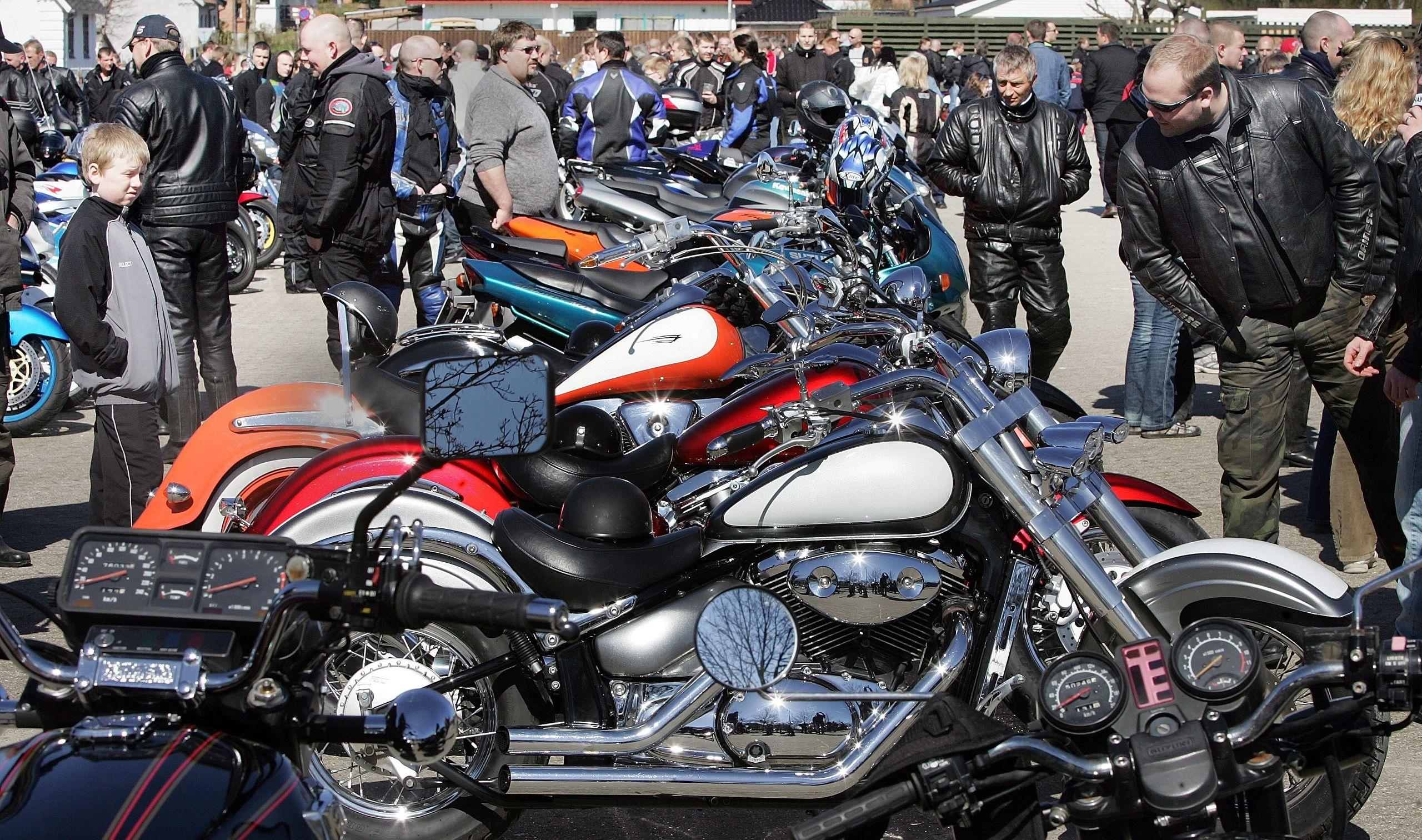 Hang til kubik? Masser af motorcykler på havnen