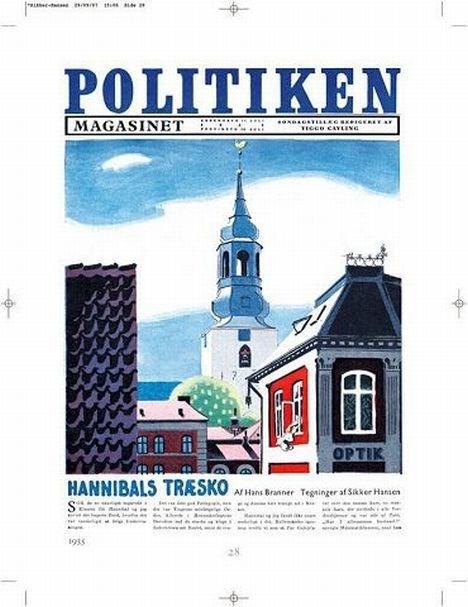 Sikker Hansens liv blev indledt i Aalborg, som man tydeligt ser af dette tryk.