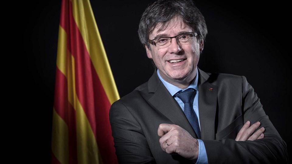 - Jeg vil ikke længere være kandidat til regionens præsidentpost, siger Carles Puigdemont i et videoklip udsendt på sociale medier. Foto: Scanpix/Emmanuel Dunand