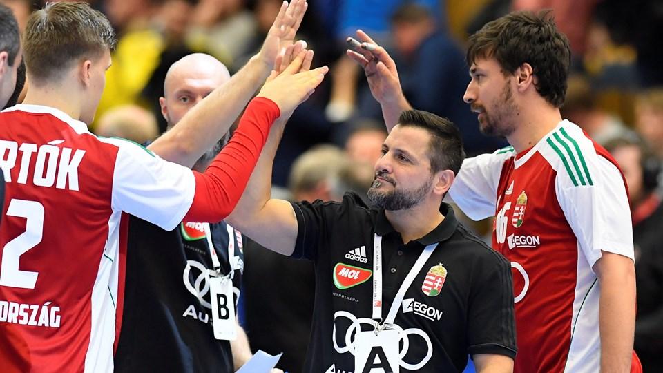 Sideløbende med et job som klubtræner i Veszprem skal Ljubomir Vranjes føre Ungarns landshold til succes ved EM i Kroatien. Foto: Reuters/Tt News Agency