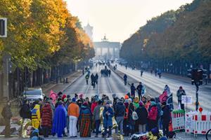 Aktivistisk klimagruppe blokerer trafik i EU's storbyer