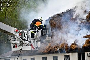 Stråtag brændte: Hus blev svært beskadiget