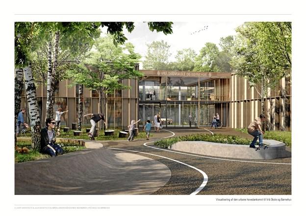 Den nye skole i Vrå har byggestart i begyndelsen af 2019.