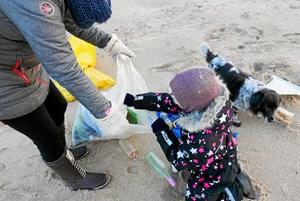 130 kilo strandaffald indsamlet på to timer