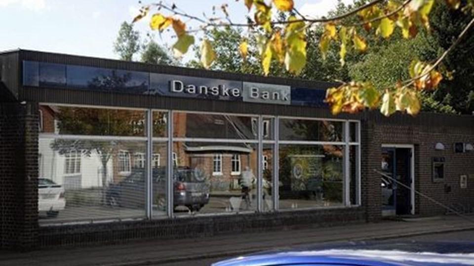 Efter 20. november er det slut med bankforretninger i bygningen i Jernbanegade 5. Foto: Michael Bygballe