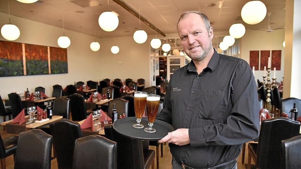 En stor restaurant i tip-top stand, en sund forretning og eget bryggeri er til salg.Foto: Ole Iversen