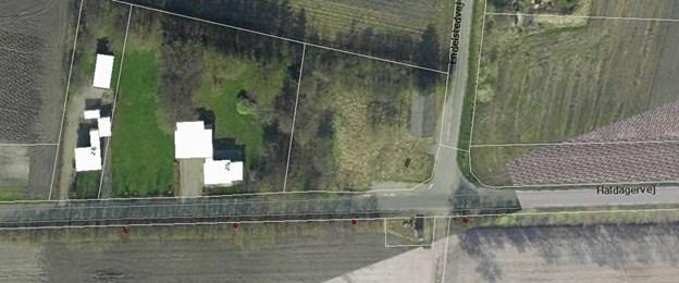 Haldagervej går mellem Biersted og Haldager.
