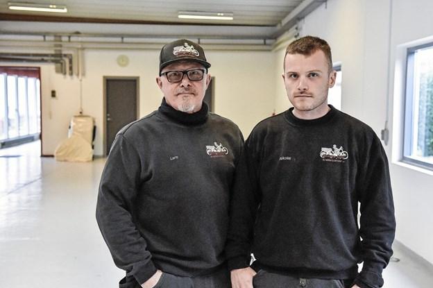 Lars og Nikolaj Kappel har haft stigende travlt siden overtagelsen af Østbyens Cykler for knapt to år siden. Foto: Ole Iversen Ole Iversen