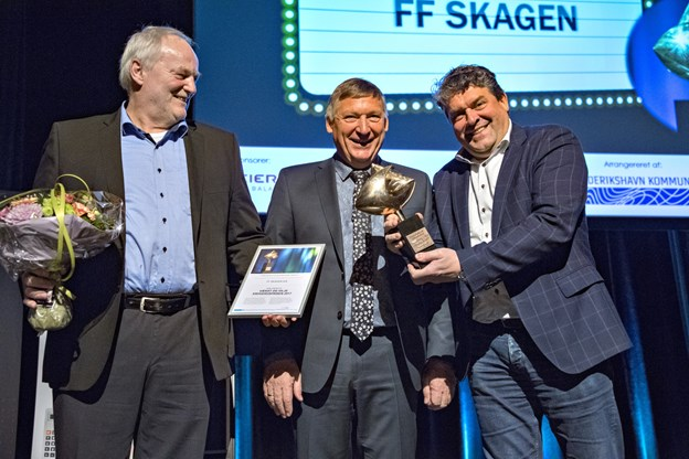 FF Skagen modtog Vækst og Viljeprisen 2017.Arkivfoto: Kim Dahl Hansen