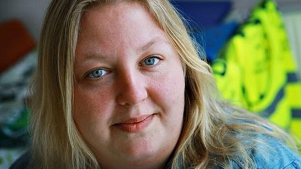 Anne Mette Christensen, Halvrimmen, social- og sundhedsassistent, opstiller til kommunalvalget for Socialdemokraterne. Foto: Michael Koch