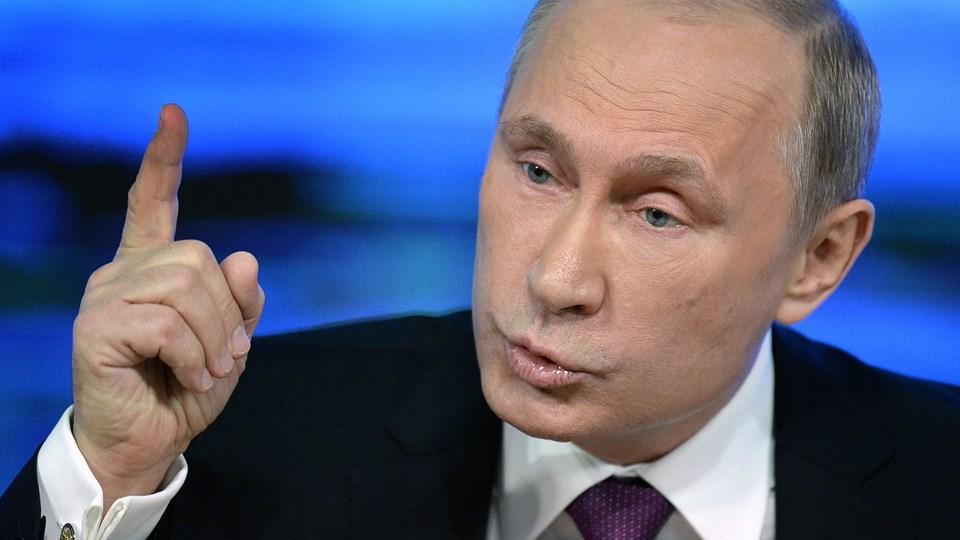 Torsdag giver den russiske præsident, Vladimir Putin, sin årlige tale til nationen. Foto: Scanpix/Alexander Nemenov/arkiv