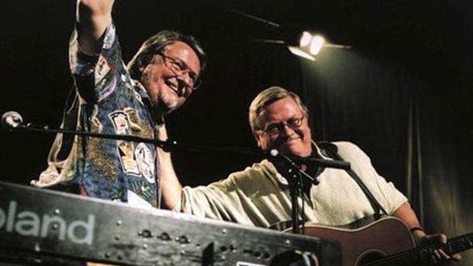 Thorkil og Peter Westh i Aars på fredag. ARKIVFOTO