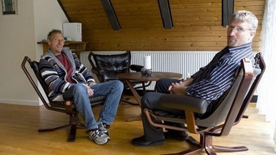 John og Allan Christensen har åbnet et nyt behandlingshjem i VråFoto: Kurt Bering