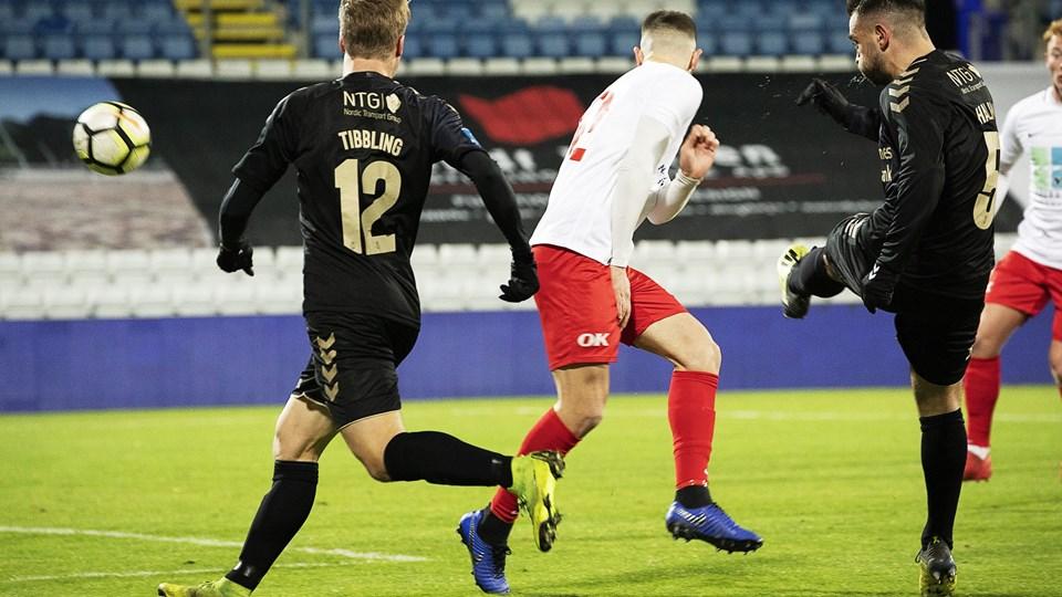 Besar Halimi indledte scoringen for Brøndby i pokalkampen mod Marienlyst efter blot ti minutter.