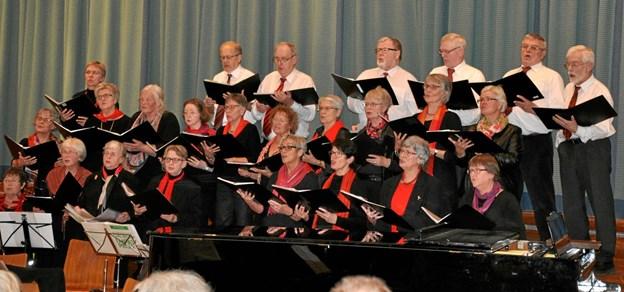 Hobro Bykor - synger julemåneden i gang i Hobro Kirke 3. december.  Privatfoto