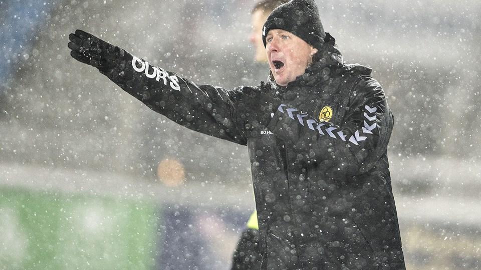 AC Horsens-træner Bo Henriksen har ført holdet op på en femteplads i Superligaen. Foto: Scanpix/Henning Bagger