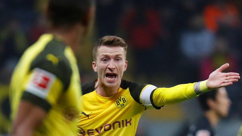 Marco Reus kommer ikke i med i Dortmunds møde med Tottenham i Champions League onsdag aften.