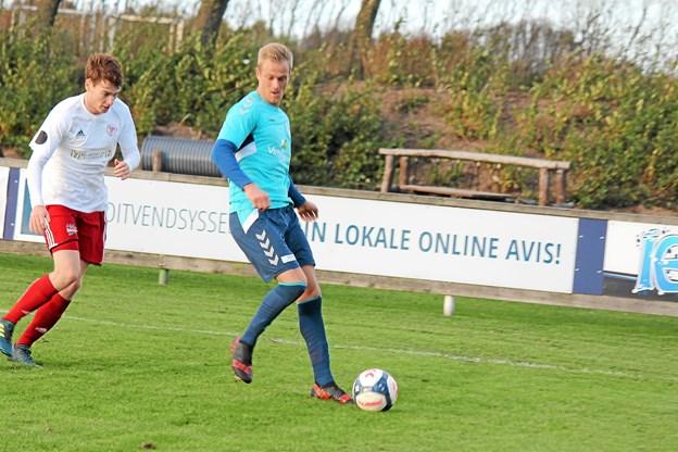 Morten U. Thomsen var god til at holde på bolden. Foto: Flemming Dahl Jensen