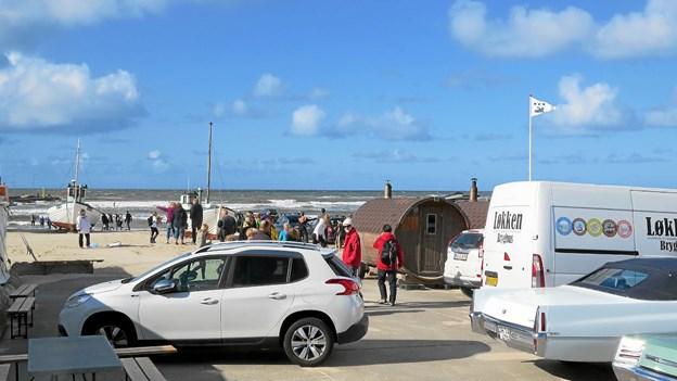 Løkken Molefestival fandt sted lige ud til hav og blå himmel. Foto: Kirsten Olsen