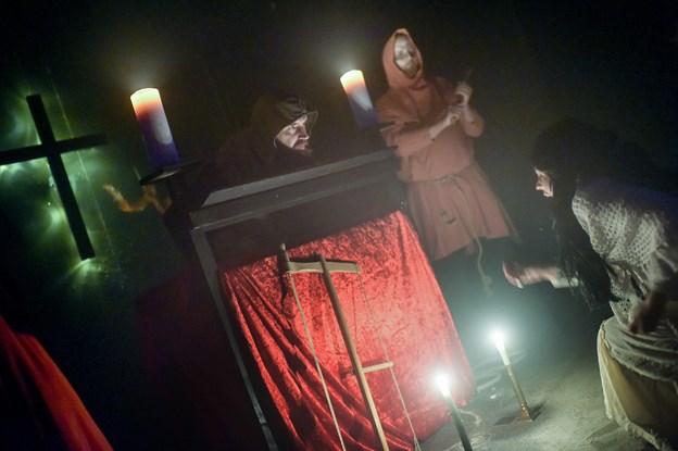Aalborg Karneval har de seneste fem år arrangeret spøgelseshus omkring Halloween - først i Huset i Hasserisgade, siden i midtbyen og nu i Nørresundby.Arkivfoto: Henrik Bo