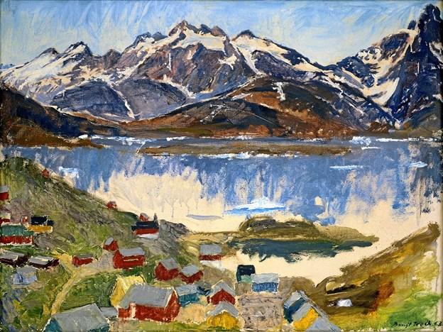 """""""Grønlandsk landskab"""" fra 1963 af Bengt Koch. Foto: Niels Reiter"""