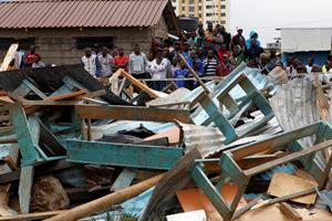 Syv dræbt og 57 kvæstet i sammenstyrtet skole i Nairobi