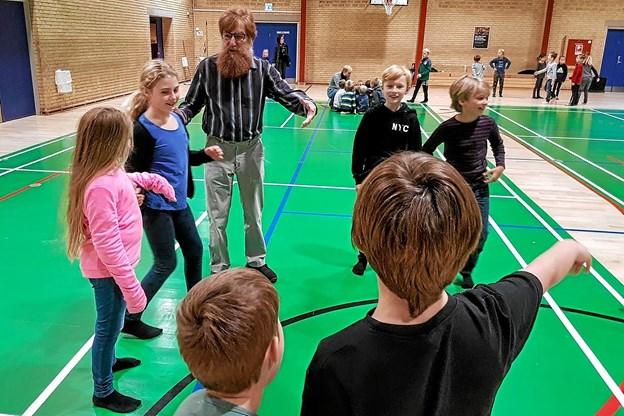 Møllekvadrillens formand Lars Brøste i aktion. Foto: Karl Erik Hansen