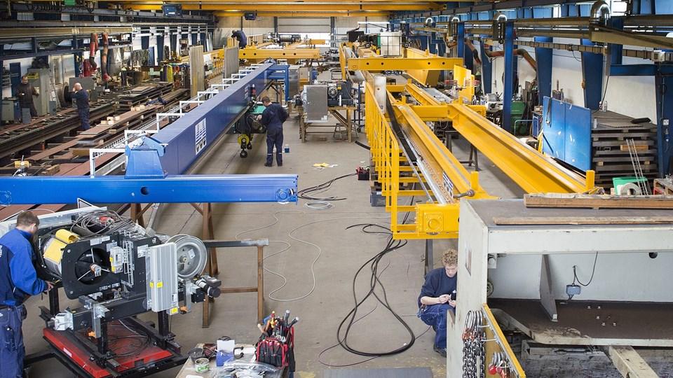 Danish Crane Building med 71 ansatte konstruerer, sælger og servicerer kraner og tilbehør.Arkivfoto: Thomas Vinther