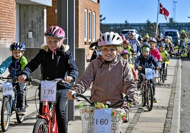 Glade smil på en god dag for Hanstholm Skole. Foto: Ole Iversen