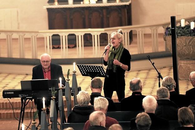 Clausen/Hald Duo bidrog med i alt 8 julesange. Foto: Allan Mortensen Allan Mortensen