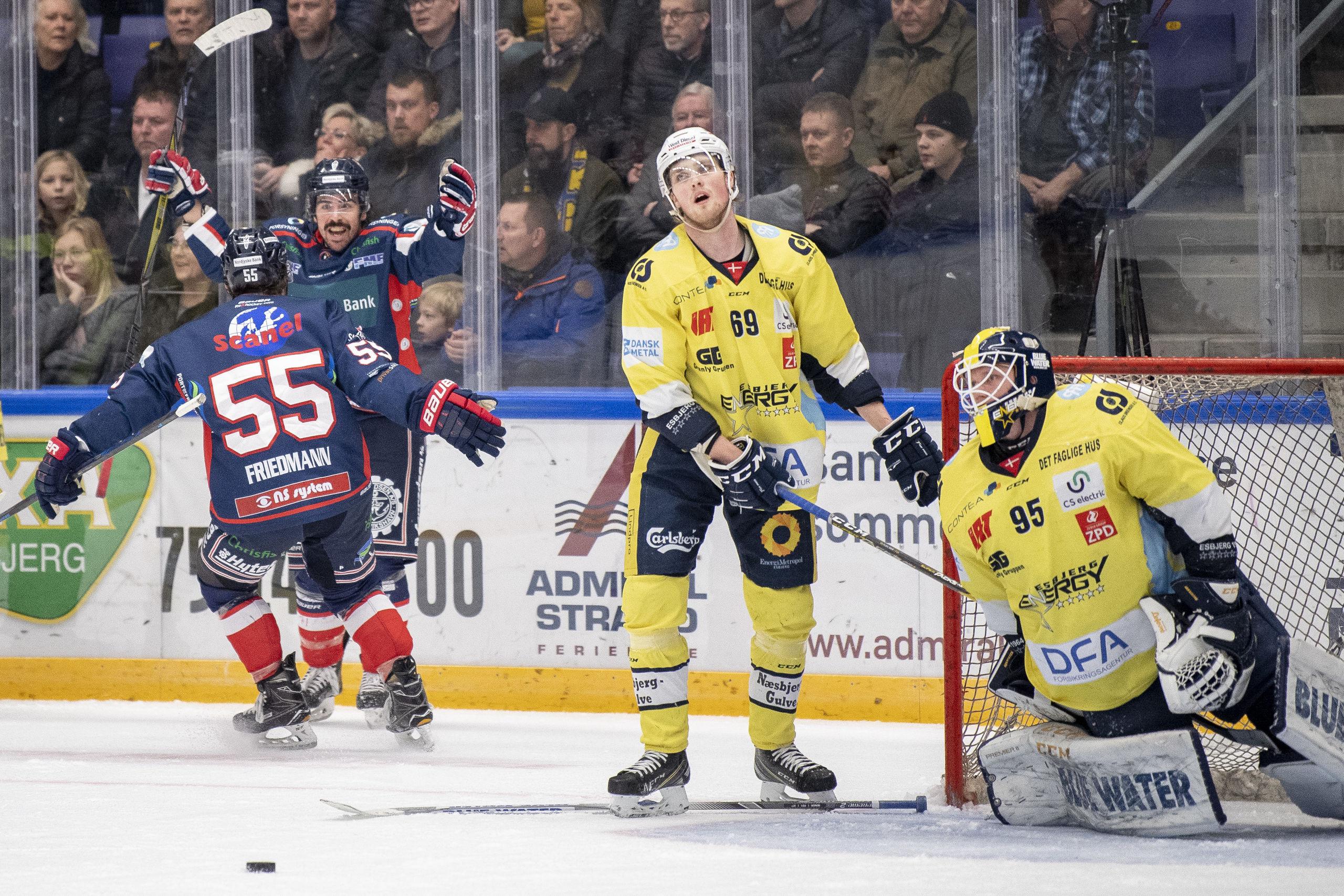 Med ryggen mod muren: Frederikshavn fremtvinger afgørende ishockeyslag