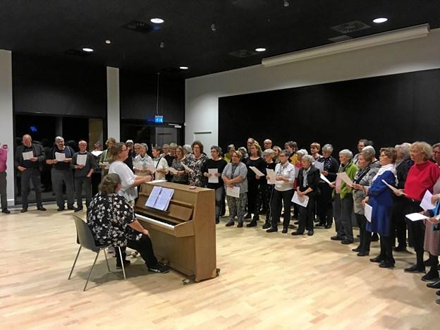 80 sangere mødtes i Brovst.Privatfoto