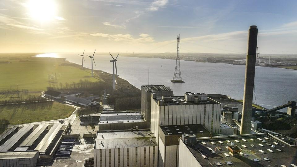 Nordjyllandsværket, hvor en stor del af omsætningen kommer fra el-salg, har problemer efter en brand i sidste uge. Foto: Michael Koch