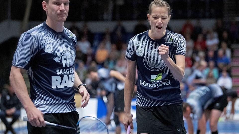 Christinna Pedersen og Robin Tabeling gav VEB en perfekt start på opgøret. Foto: Lars Pauli