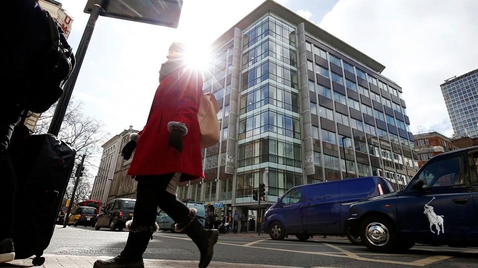 Cambridge Analyticas kontor i London. Foto: Reuters/Henry Nicholls