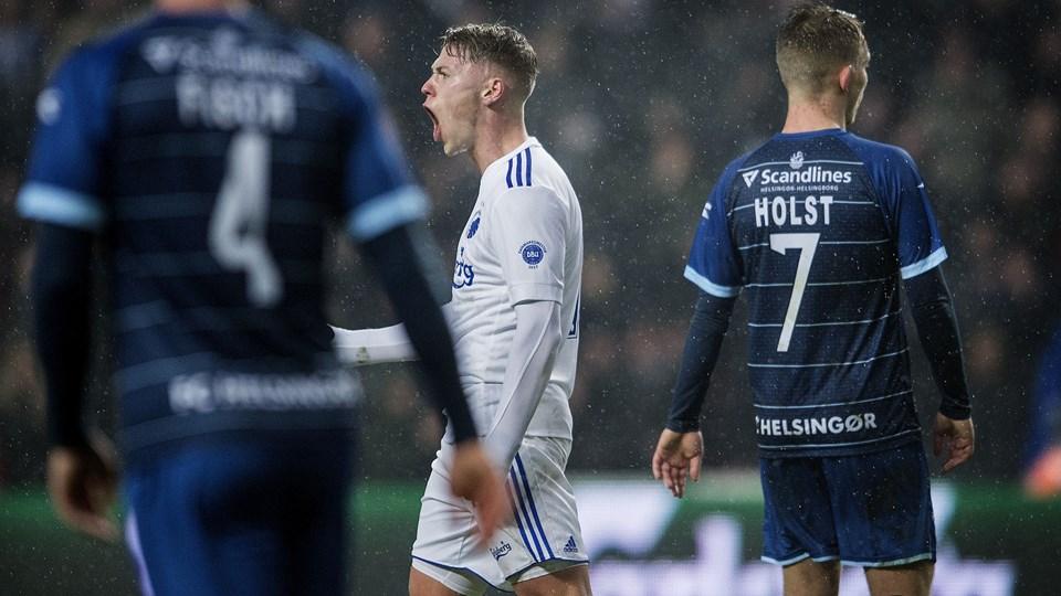 Viktor Fischer og FC København havde store problemer med at hente de tre point mod FC Helsingør. Foto: Scanpix/Liselotte Sabroe