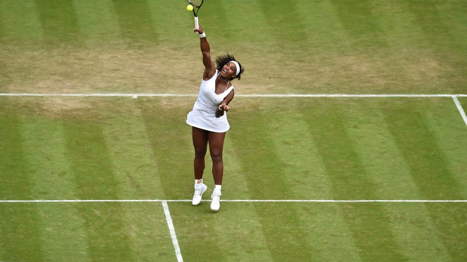 Tennis - Wimbledon - All England Lawn Tennis & Croquet Club, Wimbledon, England - 3/7/15 Women's Singles - USA's Serena Williams in action during the third round Mandatory Credit: Action Images / Tony O'Brien Livepic EDITORIAL USE ONLY.