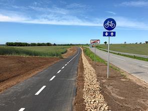 Ny cykelsti mellem Saltum og Fårup