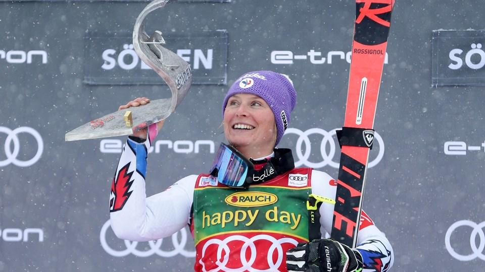 Tessa Worley vandt i 2017 verdensmesterskabet i storslalom. Foto: Lisi Niesner/Reuters