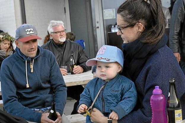 Også de unge mølboer var med til midsommerfest. Foto: Ole Iversen