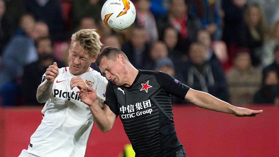 Simon Kjær fik en hovedrolle, da Sevilla tog afsked med Europa League.