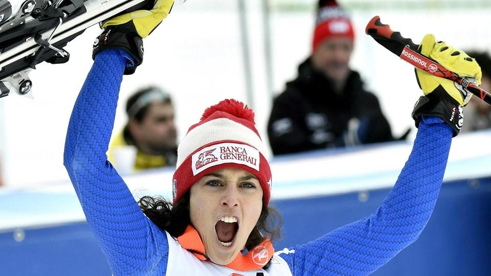 Federica Brignone vandt lørdagens World Cup-løb i Østrig. Foto: Scanpix/Hans Klaus Techt